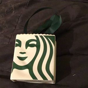 Starbucks  breakable piece with ribbon handles